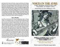 Early Modern Songscapes Conference - Recital Programme