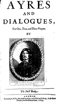 Ayres and dialogues, for one, two, and three voyces